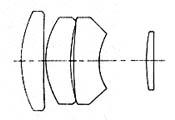 formula optica da Konica Hexanon 135mm f2.5