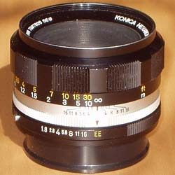Konica Hexanon AR 52 mm / F1.8 middle version with chrome ring